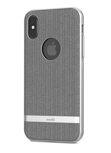 Vesta iPhone X Balıksırtı Gri Telefon Kılıf-Moshi